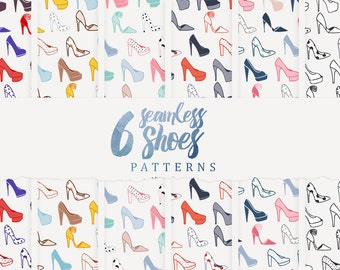 6 Seamless Shoes Patterns