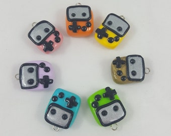 Gameboy Chibi Polymer Clay Charm
