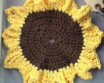 Sunflower dishcloths