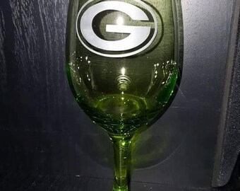 Green Bay Packer Wine Glass