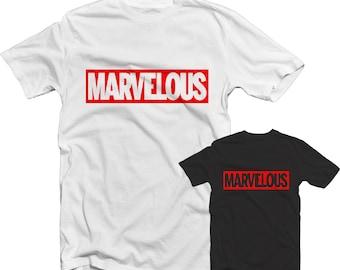 Marvelous T Shirt 1107 - Dope Swag Marvel Iron Man Xmen Hulk Spiderman Capcom Street Wear Mens Fashion Top Red Hip Hop Rap Fresh Trill Hype