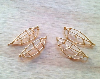 Leaves Earclimbers/ Leafs Crawlers/ Handmade earrings