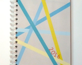"8760 calendar 2016 ""blue stripe"""