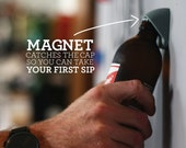 Wall Bottle Opener with magnet to catch the cap