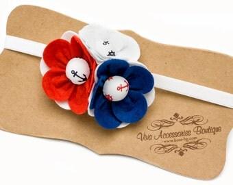 Three Flowers Headband with Felt