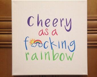 Cheery as...