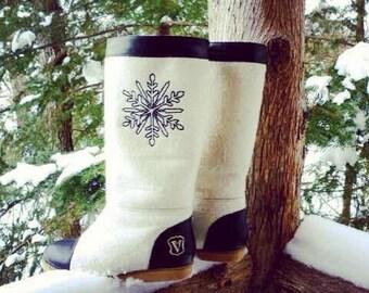 Valenki Winter Wool Boots Organic