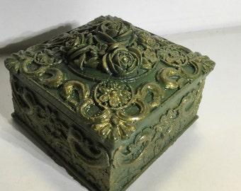 Concrete jewelry box