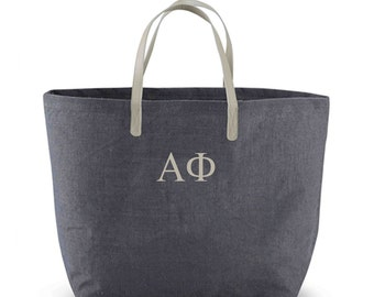 Alpha Phi Jute Tote Bag, APhi Sorority Letter Jute Bag, Alpha Phi Letters Book Bag, Alpha Phi Beach Bag, Greek Letters Tote Bag