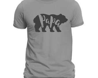 Papa Bear Crew-neck T-shirt, papa To Be Shirt, Baby Shower Gift, Gift for dad, Gift for hubby