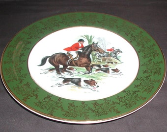 Vintage Weatherby Hanley Royal Falcon Ware Hunt Scene Collectible Plate