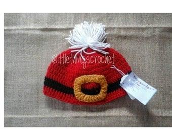 Santa Belt Crochet Hat