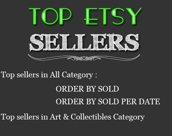 Top Etsy sellers Top selling shops Most popular shop Best sellers Top sellers in Art & Collectibles Category , Top Sellers all Category