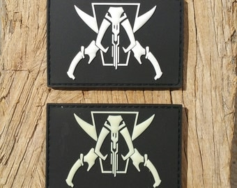 Jolly Mando PVC patch , Black and White