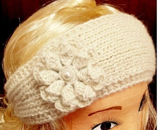 Very Cozy Australian Alpaca Headband knit, Ear Warmer crochet headwrap Women Headband Women Head Wrap Winter headbands Knit earwarmer