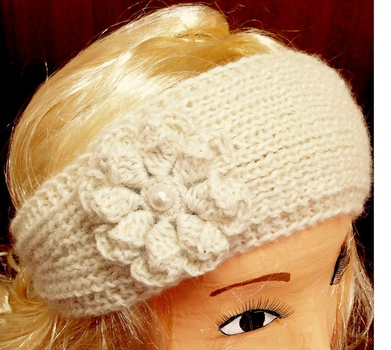 Alpaca Headband Knitting Pattern : Cozy Australian Alpaca Headband knit Ear Warmer crochet