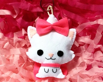 The Aristocats - Little Felt Marie Cat Keychain