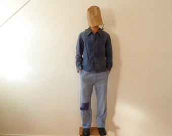 1940s french vintage workwear: moleskine jacket