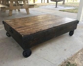 Handmade Industrial Cart Coffee Table