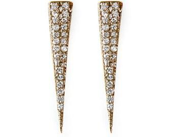 Passion Diamond Spike Stud Earrings