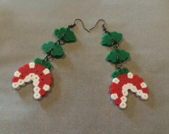 Super Mario Piranha Plant Earrings - Pixel Perler
