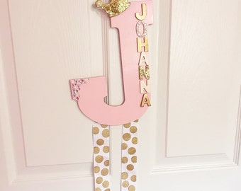 Customize wooden bow holders / letter bow holders /