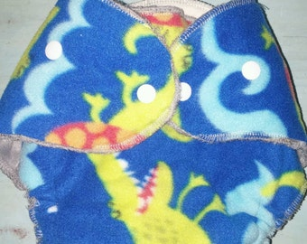 Booper Bum Fitted Cloth Diapers - Dinosaur Pattern