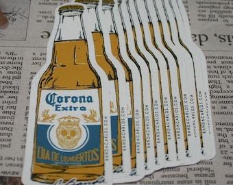 Corona Sticker Decal | Dia De Los Muertos | Cerveza Beer | Pop Art | Street Art | Skull Calavera