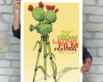 Cactus Movie Camera | Street Art | Pop Art | Chicago Latino Film Festival