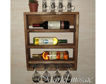 Decorative Wall Wine Rack rustic home decor wooden open wine rack wine decor