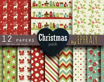 Christmas digital paper. Christmas sheets. Christmas paper. Christmas paper digital. Christmas