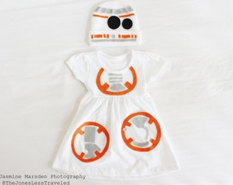 BB8 Baby/Toddler Costume Dress 3 to 18 months