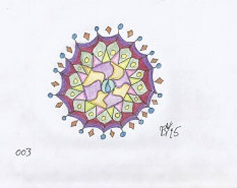Raindrops Mandala Original Artwork