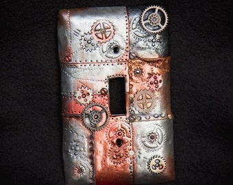 Steampunk Polymer Clay Lightswitch Plate Cover