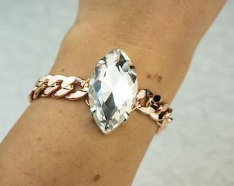 Crystal Rose Gold Bracelet
