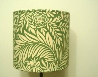 VINTAGE LEAF LAMPSHADE - handmade in Morris and Sanderson fabric 20cm, 30cm,40cm