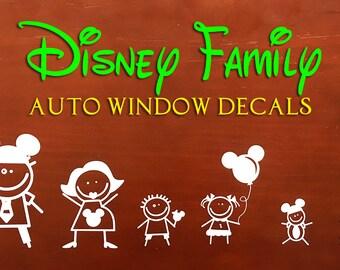 Disney Family Car Windows Decals
