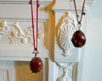 red jasper stone pendant