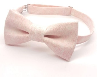 Blush Pink Bow tie, Men's Pink Bow tie, Blush Bow tie, Pre-tied Pink Bow tie