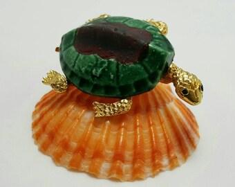 Ceramic Turtle Pin