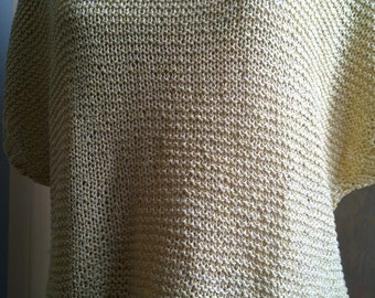 Silk hand-knitted sweater 38/40 size Small