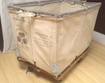 vintage garment, laundry cart