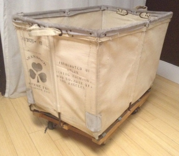 vintage garment, laundry cart