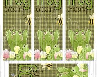 Frog Crossing Digital Instant Download U Print Book Marks PDF file and JPEG