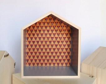 Wooden Russia House shelf