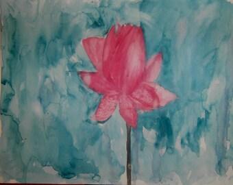 Flower watercolor original painting