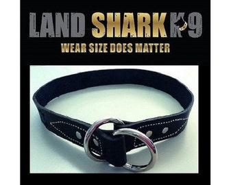 Black Pure Leather Dog Choker Collar - For Firm Control