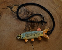 Muskie Necklace, Pike, Fishing, Necklace, Wildlife