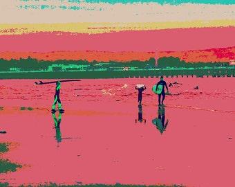 Modern Art Surf Print