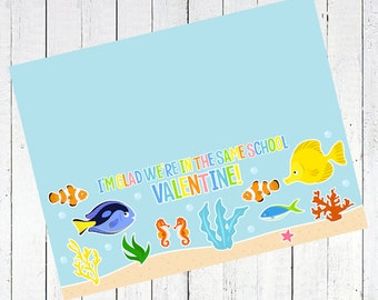 valentines day bag topper fish printable - Fish Valentine's Day Bag Topper Printable